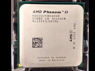 【含稅】AMD Phenom II X6 1100T 3.33G HDE00ZFBK6DGR 六核 正式CPU 一年保