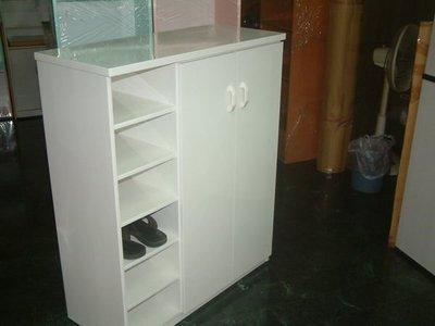 【塑鋼舒美櫥櫃設計~訂做】~不怕水.不脫皮~白色~塑鋼舒美鞋櫃~