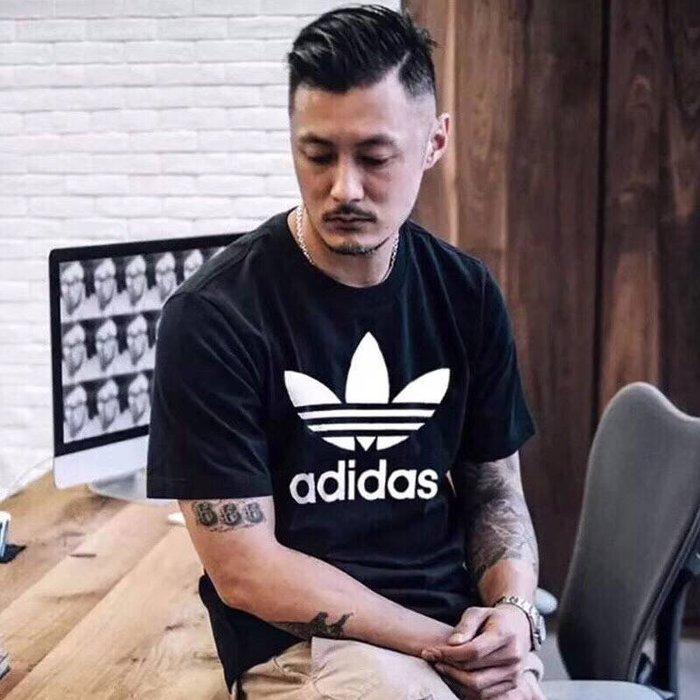 ADIDAS 愛迪達 三葉草 運動T恤 純棉 圆领短袖T恤 運動短T