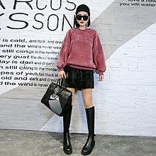 【Lady Luck服飾】大碼女裝2018胖mm秋冬裝新款字母打底衫200斤寬松絲絨衛衣女短褲
