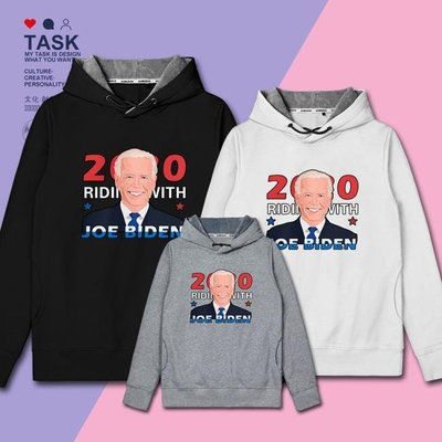 拜登Biden美國總統大選競選復古插畫連帽衛衣ins外套0014 city
