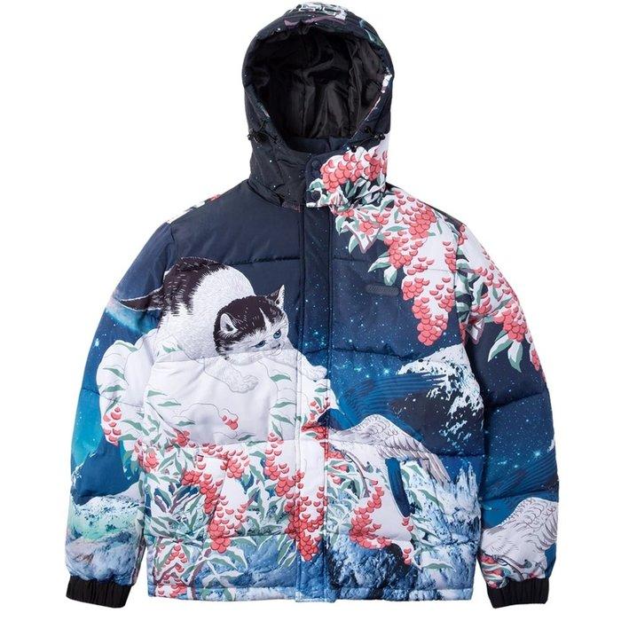 【A-KAY0】RIPNDIP 男女 SNOW BIRD PUFFER JACKET 藍【RND3903BLUE】
