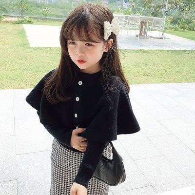 新款#儿童衣服女童套裝韓版兒童春秋時髦寶寶兩件套純棉針織網紅童裝#儿童套装pdd