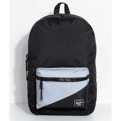 現貨 Herschel Settlement 中型 黑色 Reflective 反光 塑膠拉鍊 後背包