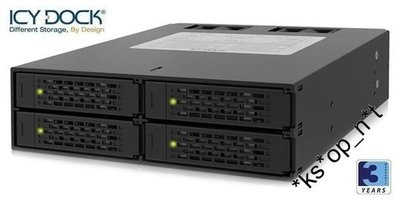 "{MPower} 台灣名廠 ICY Dock MB994SP-4SB-1 4 Bay 2.5"" SATA HDD Mobile Rack (內置風扇) - 原裝行貨"