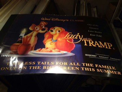 小姐與流氓-Lady and the Tramp (1955)原版英橫版海報