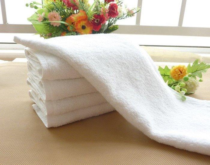 [潮開店] 飯店 民宿 白方巾毛巾足巾浴巾素白毛巾30x30 KTV毛巾 美容院毛巾 擦手巾