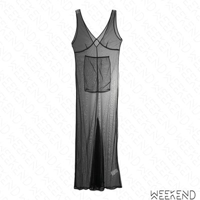 【WEEKEND】 SSHEENA 透視 低胸 無袖 薄紗 外罩裙 黑色