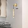 【168 Lighting】落葉印紋《LED壁燈》(兩色)金色GE 81093-3