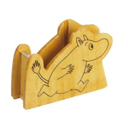 41+現貨免運費 日本限定 ムーミン テープカッター 木製 ムーミン