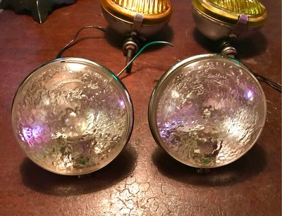 英國 Butlers 4寸 老霧燈 一對 水波紋 老車霧燈 摩斯燈 mods 摩德 偉士牌 蘭美達 Vespa 附夾具