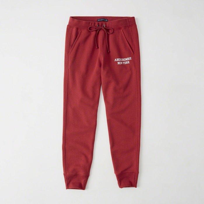【Abercrombie&Fitch】【A&F】AF女款長棉褲束口左白小字紅 F07171226-11