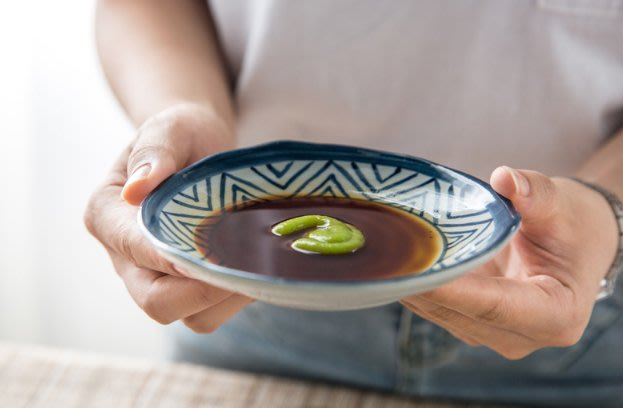 藍凜日式三角味碟  醬料碟  油醋碟  小菜碟  小碟子  調味料碟  陶瓷餐具  藍色  白色【小雜貨】
