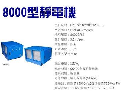 【GO GO GO 餐飲設備】8000型靜電機/油煙處理機