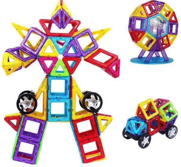 初見  兒童益智玩具百變磁力建構裝片3D立體組合 創意無限腦力激盪 初見