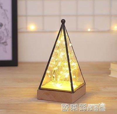 小桌燈 ins超火樹銀花燈創意夢幻北歐裝飾台燈臥室床頭led小夜燈高檔個性