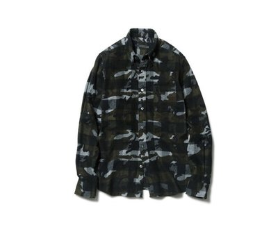 SOPHNET CAMOUFLAGE OVER PRINT FLANNEL CHECK 9/26發