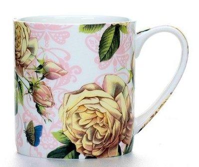 點點蘑菇屋{馬克杯}英國ROYAL DORA 白玫瑰馬克杯 水杯 奶茶杯 (單一個價) 新竹縣