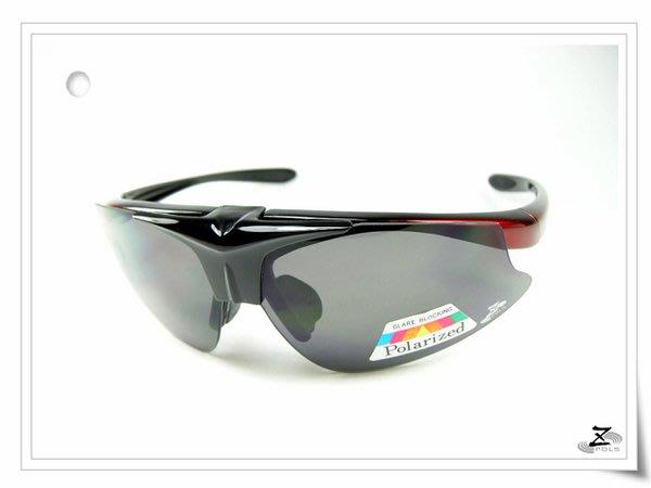 【新一代Z-POLS 旗艦黑紅漸層質感款】搭載100%偏光可配度可掀帥UV運動眼鏡,下殺