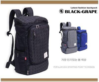 韓系運動休閒後背包/旅行包/筆電包【3205】黑葡萄包包