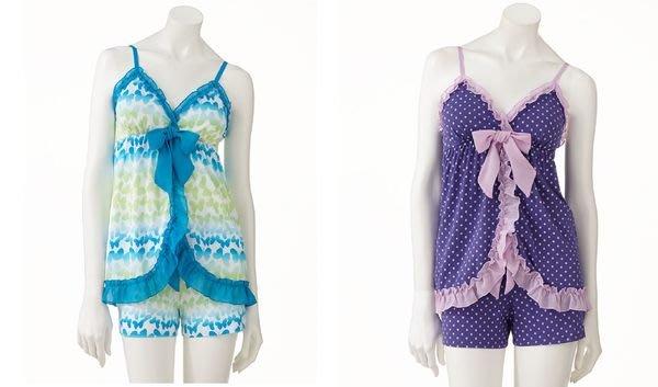 【天普小棧】美國SO Pajama Set性感可愛兩件式睡衣褲 細肩帶背心平口褲 XS/S 現貨抵台