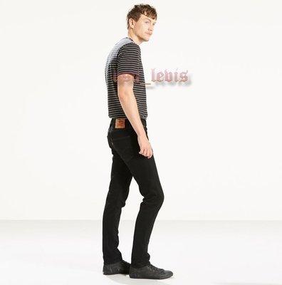 【最新款窄管28-38腰優惠】美國Levis 501 SKINNY BLACK PUNK黑色丹寧褲合身小直筒牛仔褲511