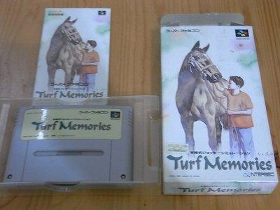 【小蕙館】SFC日版卡帶 ~ Turf Memories 賽馬回憶錄 (盒裝)