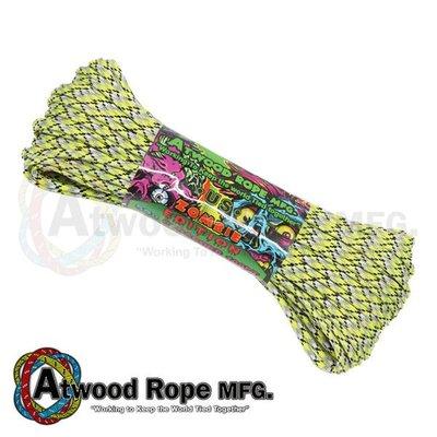 馬克斯  Atwood Rope 美國專業傘繩 -螢光黃黑白灰迷彩色傘兵繩 / 100呎--Z05 INFECTION
