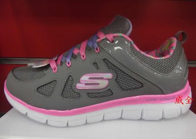 【威全全能運動館】SKECHERS air cooled運動 慢跑鞋 現貨保證正品公司貨 女生 童款81674LGYPK
