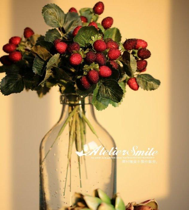 [ Atelier Smile ] 鄉村雜貨 小花園系列 仿真覆盆子野莓裝飾果樹 仿真植物 兩色選 (現+預)