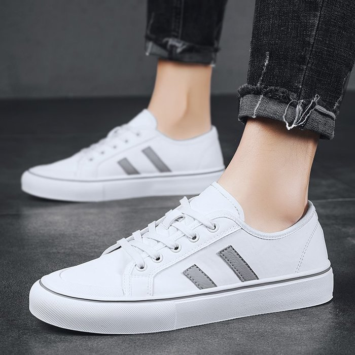 TIME&NES~帆布鞋正韓夏季休閒鞋男士潮鞋小白鞋男板鞋2020春季新款透氣男鞋