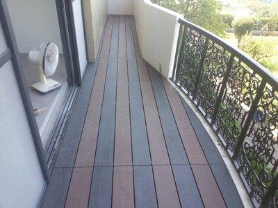 協泰地板-戶外朔木地板施工到好1坪13000元-材料6000元配件另計