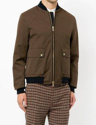 【Ryan Store】英倫設計師系列 進口油布 撞色鍍金八號拉鍊 BOMBER JACKET夾克 秋冬夾克外套