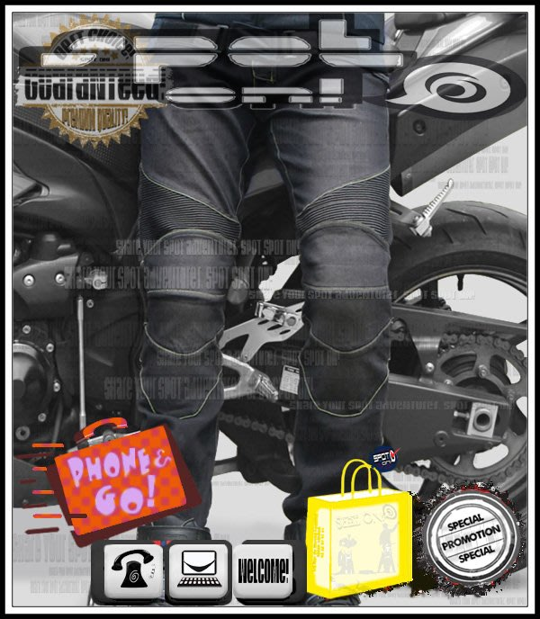Spot ON - SPEEDPROBIKER HP11 立體剪裁牛仔褲✔可拆四件式護具!皮衣酷到爆 HORNET600