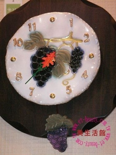 美生活館--葡萄圓滿陶阪掛鐘