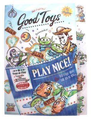 【卡漫迷】 玩具總動員 五層 資料夾 餅乾袋 ㊣版 手繪 L字型 L夾 A4 文件夾 檔案夾 Toy Story 卡通