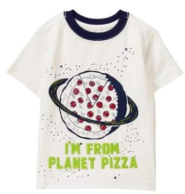 *DORA BABY*Gymboree全新正貨小男生短袖上衣 (白色+ 披薩星球) ~【現貨】3Y & 4Y