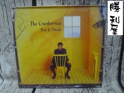 勝利屋 超值直購品-全新 THE CRANBERRIES小紅莓合唱團 free to decide 原裝進口單曲 CD