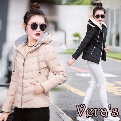【V1712004】(預購)冬季棉衣女短款修身加厚羽絨棉服