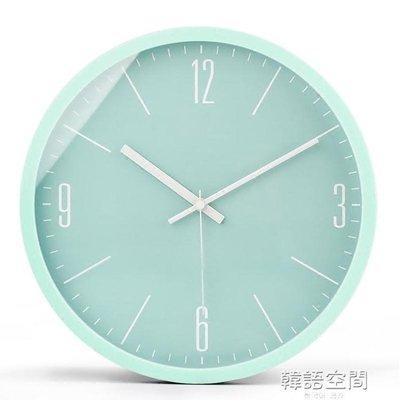 【Miosio】 現代簡約馬卡龍鐘錶掛鐘石英鐘客廳創意臥室大氣時鐘掛錶靜音錶 YTLMN-217077