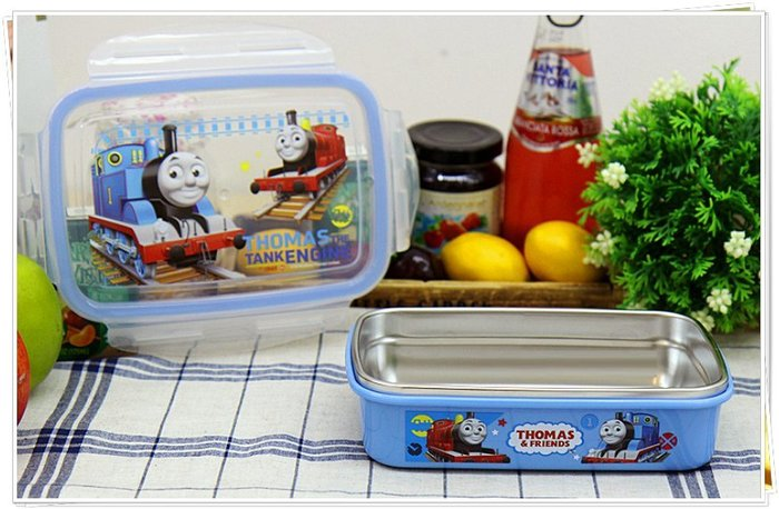 湯瑪士 560ml 304不鏽鋼 樂扣蓋 保鮮盒 便當盒 韓國製  奶爸商城  通販 702108 特價