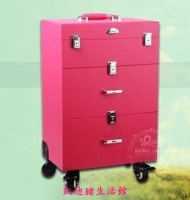 【凱迪豬生活館】正品Sunrise粉色萬向輪多層拉桿化妝箱專業大號 跟妝 美甲箱 跟妝箱拉桿箱帶鎖扣化妝箱KTZ-200901