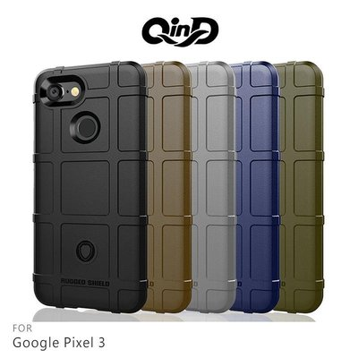 --庫米--QinD Google Pixel 3 XL/Pixel 3 戰術護盾保護套 軟殼 TPU套 手機殼 保護殼