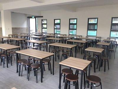 【鐵木創】塑合板 餐桌 員工餐廳  耐油水 營業用 桌椅  餐桌椅組飯桌 辦公桌 電腦桌 書桌 休閒桌 台中市