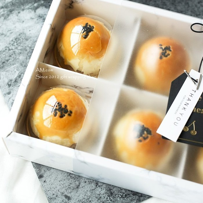 AM好時光【M123】半圓形天地蓋 月餅 單入透明包裝盒❤中秋節禮盒 DIY糕餅原料 巧克力 西點蛋黃酥 鳳梨酥 禮品盒