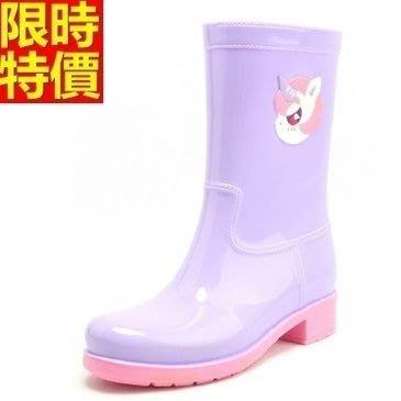 中筒雨靴子 雨具-可愛小動物時尚撞色女雨鞋子3色66ak10[獨家進口][米蘭精品]