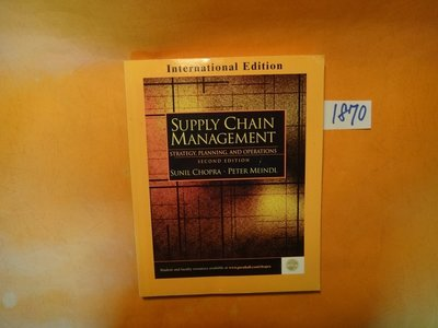 【愛悅二手書坊 02-48】SUPPLY CHAIN MANAGEMENT    PEARSON