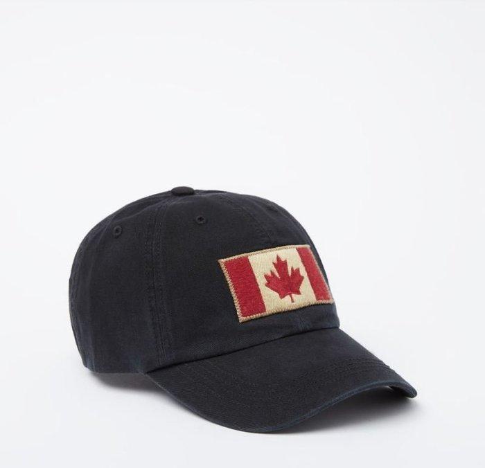 ~☆.•°莎莎~*~☆~加拿大ROOTS Vintage Flag Baseball Cap 棒球帽