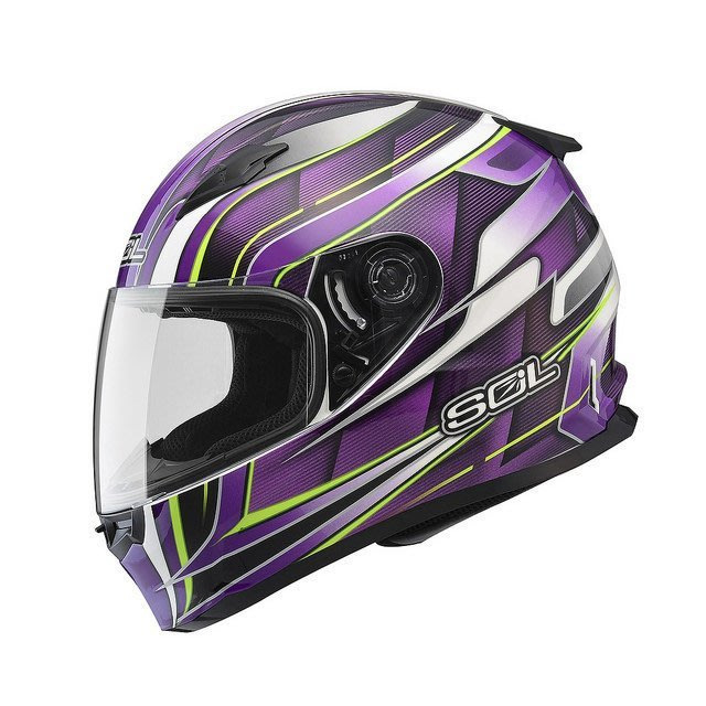 SOL安全帽,SF2M,新世紀/白紫