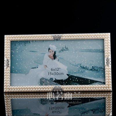 INPHIC-雙排珍珠環保鋅合金相框 擺臺相框 居家擺飾